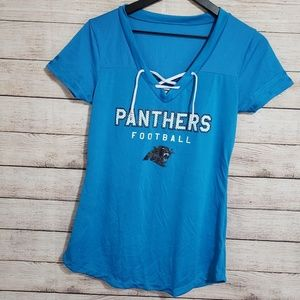 NFL team apparel | Panthers lace front top